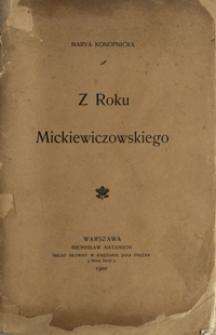 Z Roku Mickiewiczowskiego