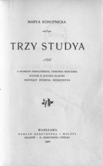 Trzy studya