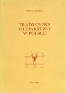 Tradycyjne olejarstwo w Polsce