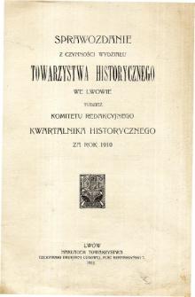 Sprawozdania Towarzystwa Naukowego we Lwowie. Rocznik III. 1923. Zeszyt 2