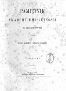 Pamiętnik Akademii Umiejętności w Krakowie. Wydziały: Filologiczny i Historyczno-Filozoficzny. T. 2