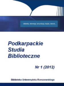 Podkarpackie Studia Biblioteczne. 2012, nr 1