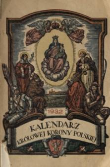Kalendarz Królowej Korony Polskiej na Rok Pański 1932