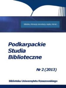 Podkarpackie Studia Biblioteczne. 2013, nr 2
