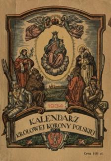Kalendarz Królowej Korony Polskiej na Rok Pański 1934