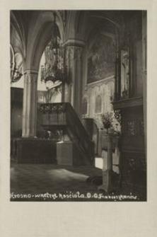 Krosno - wnętrze kościoła OO. Franciszkanów [Fotowidokówka]