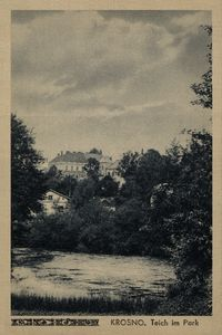 Krosno. Teich im Park