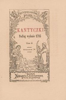 Kantyczki : podług wydania 1785. T. 2.