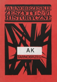 Tarnobrzeskie Zeszyty Historyczne. 1991, nr 2 (grudzień)