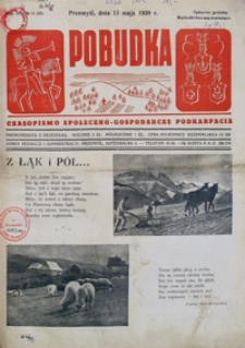 Pobudka : czasopismo społeczno-gospodarcze Podkarpacia. 1938, R. 4, nr 10 (maj)