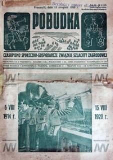 Pobudka : czasopismo społeczno-gospodarcze Związku Szlachty Zagrodowej. 1938, R. 4, nr 16 (sierpień)