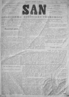 San : czasopismo społeczno-ekonomiczne. 1879, nr 1-4 (styczeń)