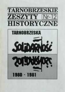 Tarnobrzeskie Zeszyty Historyczne. 1996, nr 12 (maj)