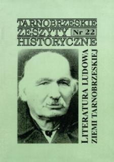 Tarnobrzeskie Zeszyty Historyczne. 2001, nr 22 (grudzień)