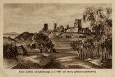 Ruiny Zamku odrzykońskiego z r. 1847 od strony północno-zachodniej [Widokówka]