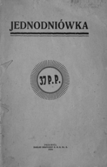Jednodniówka 37 P. P.
