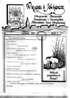 Waga i Miecz : strzyżowski miesięcznik Samorządu i Towarzystwa Miłośników Ziemi Strzyżowskiej. 1991, [R. 1], nr 1 (marzec)