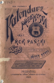 Kalendarz Przemyski na Rok Pański 1899, R. 1