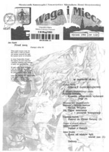 Waga i Miecz : miesięcznik Samorządu i Towarzystwa Miłośników Ziemi Strzyżowskiej. 1993, [R. 3], nr 1 (styczeń)