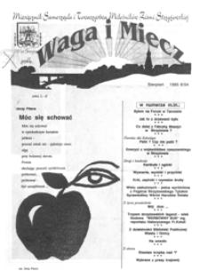 Waga i Miecz : miesięcznik Samorządu i Towarzystwa Miłośników Ziemi Strzyżowskiej. 1995, [R. 5], nr 8 (sierpień)